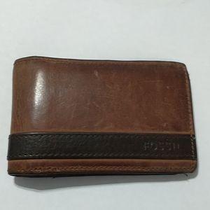Vintage Fossil Leather Billfold